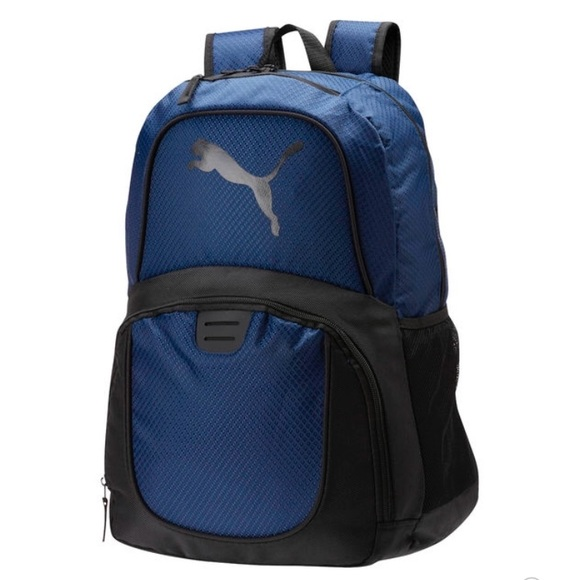 puma bookbags blue